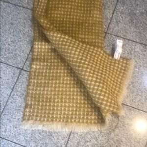 Mustard with creams print blanket scarf